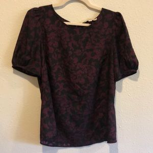 LOFT Puffy Sleeved Blouse